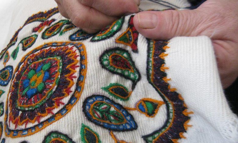 صنایع دستی پته دوزی